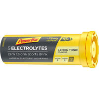 PowerBar Electrolyte Tabs – Lemon Tonic Boost met 75 mg cafeïne (10 Tabletten)