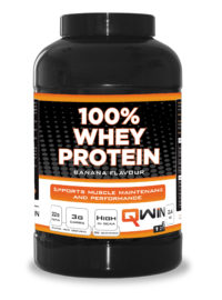 Qwin – 100% Whey Protein – Banana (2400 gram/85 servings)