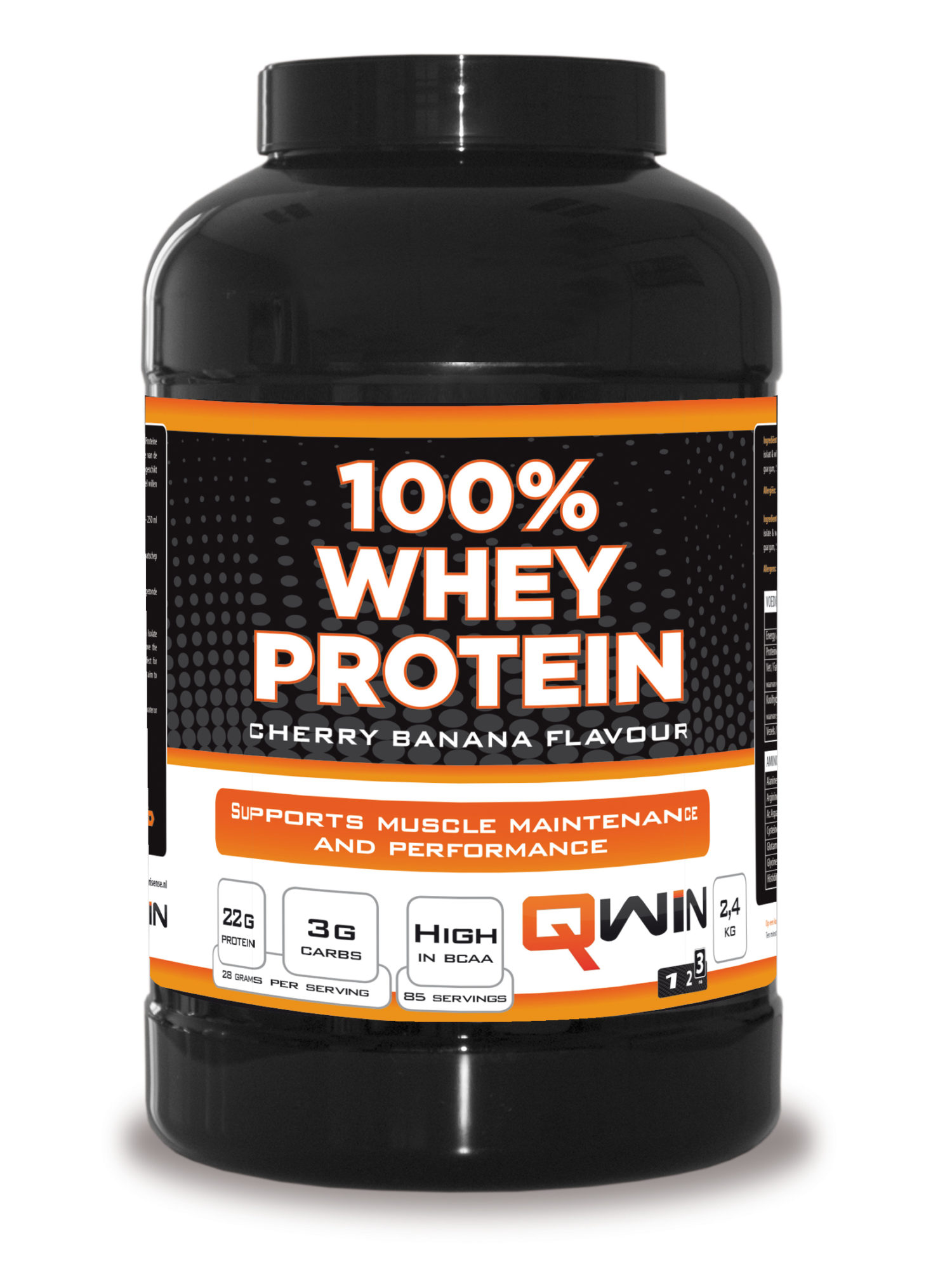 QWIN Whey Pot Cherry Banana 2400 g 1